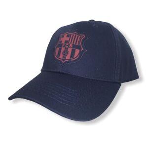 FC Barcelona Navy Blue Official Snapback Logo Hat FCB Messi BRAND NEW