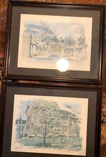 Bobby Atkinson Watercolor Signed Print Redpath Museum Reddick Gates Framed Set