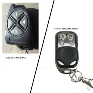 Letron AR1 AP009 FOB43304 compatible remote control with button protection cover