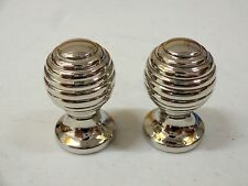 NICKEL SILVER  BEEHIVE KNOBS CUPBOARD PULL DOOR DRAWER HANDLES CABINET