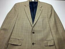 Nautica Blazer Suit Jacket Mens 40 R Tan Tweed Wool Sports Jacket Preppy Dressy
