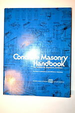 Concrete Masonry Handbook by Rondall & Panarese 1982 Book Rb84 method technique