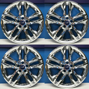 "2015-2018 Ford Edge SEL # IMP-385X 18"" 10 Spoke Chrome Wheel Skins NEW SET/4"
