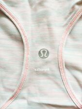 Lululemon Cool Racerback CRB Tank Wee Are from Space White Barely Pink 10