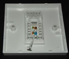 Cat5e RJ45 Single Face Plate (Network Ethernet data Wall One socket FacePlate)