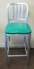 Aluminum Dining Barstool With Upholstered Seat