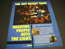 JEFF HEALEY is drawing people INTO THE LIGHT Dynamic 1989 PROMO DISPLAY AD mint