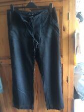 black linen trousers size 12