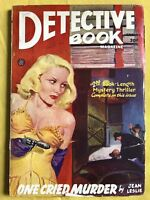 Detective Book Spring 1946 Pulp One Cried Murder Jean Leslie Drake Cover