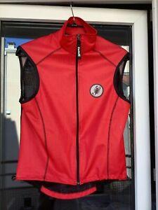 Castelli Cycling Vest (size S) red wind stopper