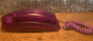 Rare Vintage Conair Phone Purple See Through Telephone Cool Old School Nostalgia