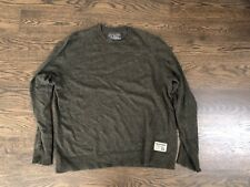 Abercrombie & Fitch Green Heathered Sweater XL Extra Large Wool Cotton Blend
