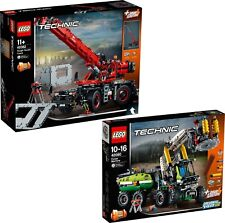 LEGO TECHNIC 42080 + 42082 Kran Kranwagen Harvester Wald Forstmaschine N8/18