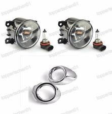 Front Bumper Fog Light Lamps w/Chrome Covers Kits for Ford Focus 2012-2014
