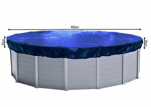 QUICK STAR Abdeckplane Pool Rund Planenmaß  520cm für Poolgröße 420-460cm