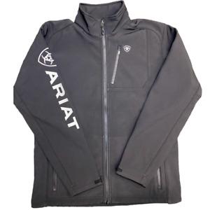 Ariat® Boy's Logo 2.0 Softshell Black & Silver Jacket 10030212