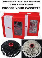 SunRace CSMX3 10 Speed 11-40 / 11-42t MTB Bike Cassette fits Shimano SRAM 1X 10