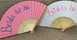 5 x Personalised Text on Paper Hand Fans Customised Hand Written Colours Option