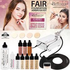Feria de Maquillaje de Base Sistema Belloccio Aerógrafo Compresor Blush Bronceador Kit