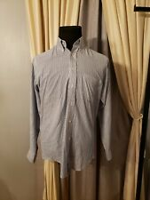 Givenchy Monsieur Mens Blue White Striped Dress Shirt Sz 15-32/33  Long Sleeve