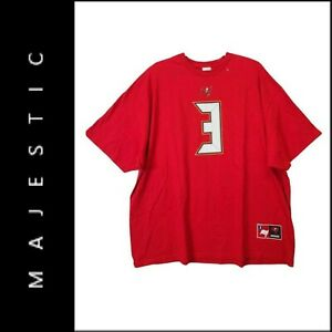 Majestic Men Short Sleeve Tampa Bay Buccaneers Winston #3 Jersey Red Size 6XL