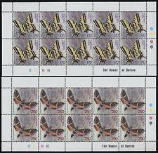 Armenia 579-80 Sheets MNH Butterflies