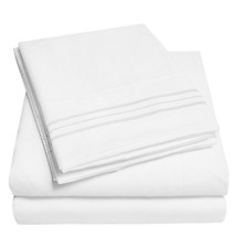 1500 Supreme Collection Extra Soft Twin Sheets Set, White - Luxury Bed Sheets Se