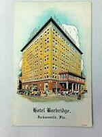 Vintage Postcard 1910's Hotel Burbridge Jacksonville FL Florida