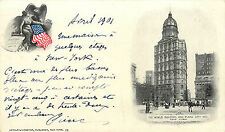 MANHATTAN NYC WORLD BUILDING & PLAZA CITY HALL 1901 PMC P/C