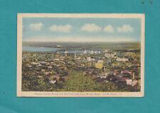 Jacques Cartier Bridge & Montreal East fr Mount Royal C.P.R. Photo 1943 Postcard