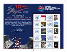 UNO WIEN - 2013 EURO GRUSSMARKEN BOGEN 797 PANAMA KONFERENZ ANTIKORRUPTION S 55