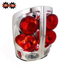 Rear Tail Light Clear Lens Chrome Housing 02-06 Dodge Ram 1500/2500/3500