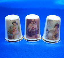 Birchcroft Thimbles -- Set of Three  -- Sewing Thread Posters ( Make Offer )
