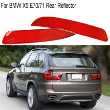 Pair Rear Bumper Cover Lens Reflector Housing Light Tail Lamp For BMW X5 E70 E71
