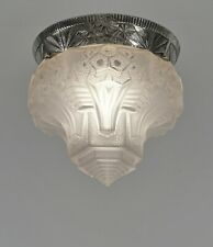 MULLER FRERES : FRENCH 1930 ART DECO FLUSH MOUNT ...... chandelier  lamp pendant