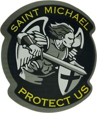 "Saint Michael The Archangel Protect Us Angel Warrior Religion Sticker 4.25"" x 4"""