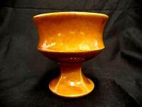 """BROWN MCCOY ART POTTERY USA GOBLET URN PEDESTAL PLANTER FLOWER POT CUP 4.25"""" H"""