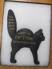 RARE Cats Paw EARLY in store ad sign disp NOS 2 PC