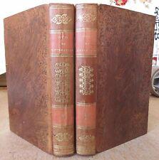 COURS DE LITTERATURE ANCIENNE & MODERNE 2 VOL 1830 FRONTIS DE LA HARPE & ROLLAND
