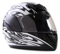 New Kids Motorcycle Black Helmet DOT Full Face Small Medium Large XL Youth Child