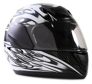 New Kids Motorcycle Black Helmet DOT Full Face Small Medium Large XL Youth Child