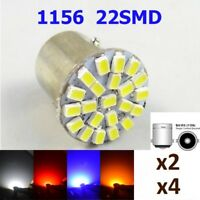 Light bulbs LED, P21W, BA15S, 5050 22SMD 5W5, 1156, DC12V, colours varied