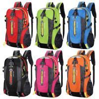 40L Waterproof Nylon Outdoor Hiking Camping Travel Backpack Daypack Rucksack Bag