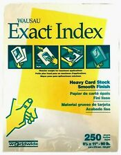 Exact Index Heavy 90# Card Stock White 250 Sheets Wausau