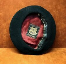 Vintage Black STANFORD Veritable Basque Impermeable Wool Beret  ~ FREE SHIPPING