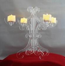 Candelabra LED Candle Holder Acrylic