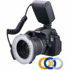 48  Polaroid Macro LED Ring Flash & Light Includes 4 Diffusers For Sony Alpha