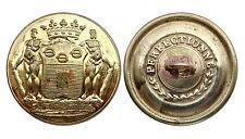 Ancien Bouton de Livrée, Marquis DE MALET DE COUPIGNY. 26,5 mm. Plat. Doré