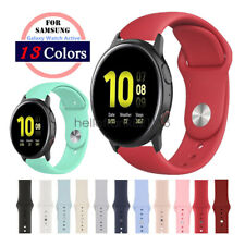 Soft Silicon Sport Watch Band Strap for Samsung Galaxy Watch Active 40mm/44mm