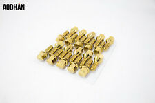 12x1.5 20PC Aodhan LB55 Lug Bolts Gold / FIT BMW E66 F01 F02 740 750 760 I